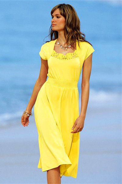 Модели желтого платья фото