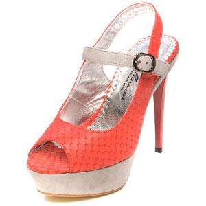 Коралловое платье, туфли