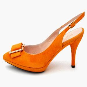 Оранжевые ботильоны