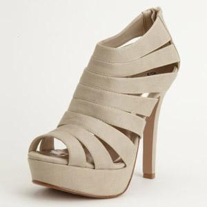 Туфли бежевого цвета