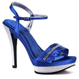 Синие туфли, синие босоножки, синие ботильоны. Обувь под синее