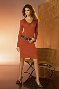 Платье кирпичного цвета