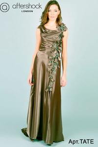 Вечернее платье фисташковое