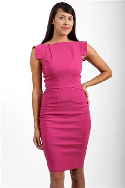 4247 длинное блестящее платье розовое